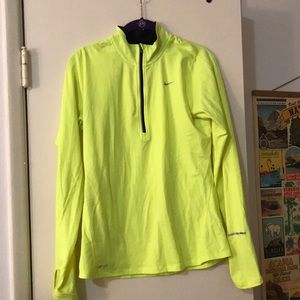 Highlighter yellow Nike running jacket!